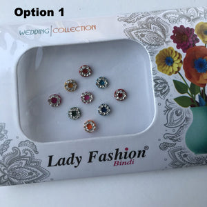 9 PC Bindi Pack, Bindis - THE KUNDAN SHOP
