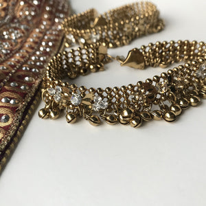 Dark Bronze Tones, Anklets - THE KUNDAN SHOP