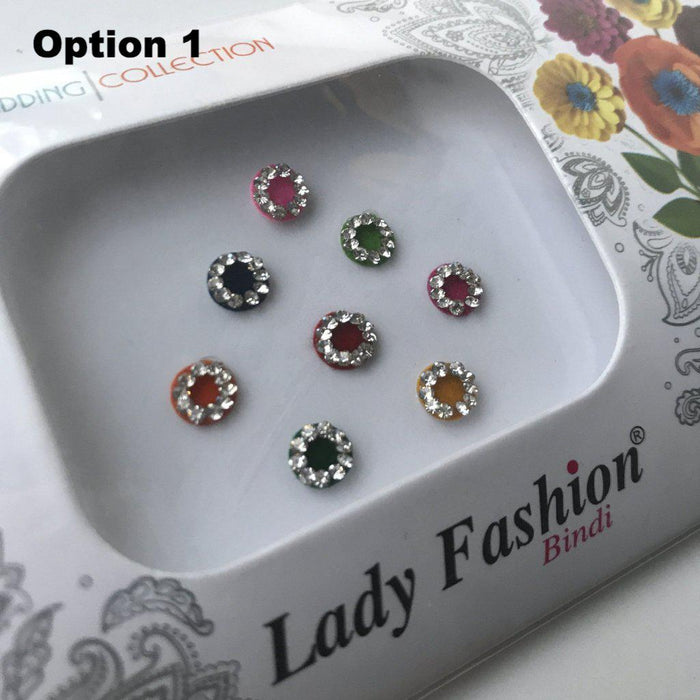 8 PC Bindi Pack, Bindis - THE KUNDAN SHOP