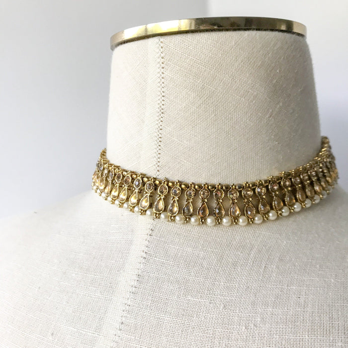 An Everyday Choker, Necklace Sets - THE KUNDAN SHOP