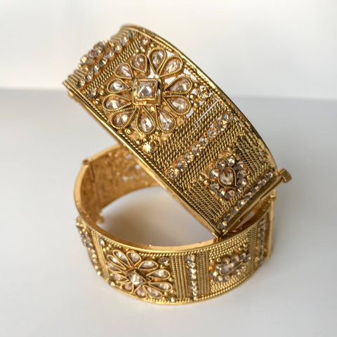Floral Wrist, Bangles - THE KUNDAN SHOP