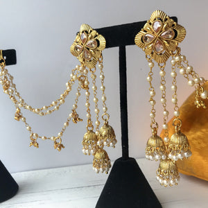 Various Chandelier Earrings with Sahara, Sahara Earrings - THE KUNDAN SHOP