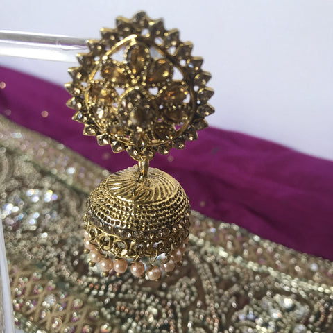 Dusty Jumki, Earrings + Tikka - THE KUNDAN SHOP