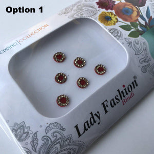 6 PC Bindi Pack, Bindis - THE KUNDAN SHOP