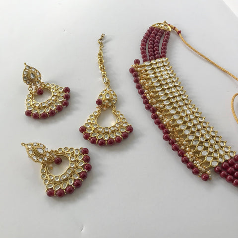 Wrapped in Beads, Necklace Sets - THE KUNDAN SHOP
