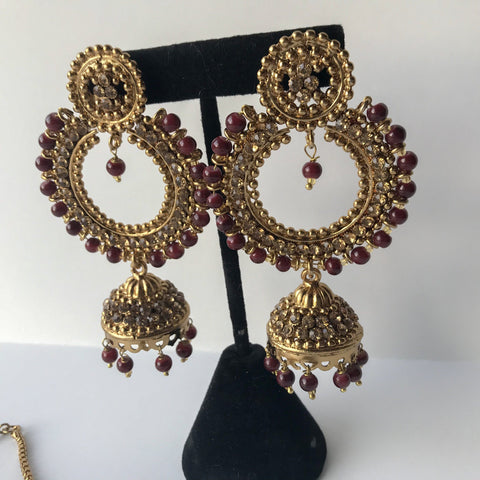 Bring Home the Gold Necklace Set, Necklace Sets - THE KUNDAN SHOP