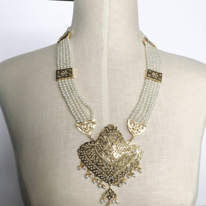 Goldy Jadau Set, Jadau - THE KUNDAN SHOP