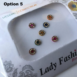 7 PC Bindi Pack, Bindis - THE KUNDAN SHOP