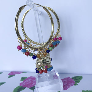 Multi Coloured Jumki Baali, Baalis - THE KUNDAN SHOP