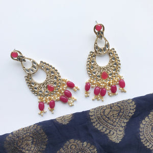 Roses Can Be Pink, Earrings + Tikka - THE KUNDAN SHOP