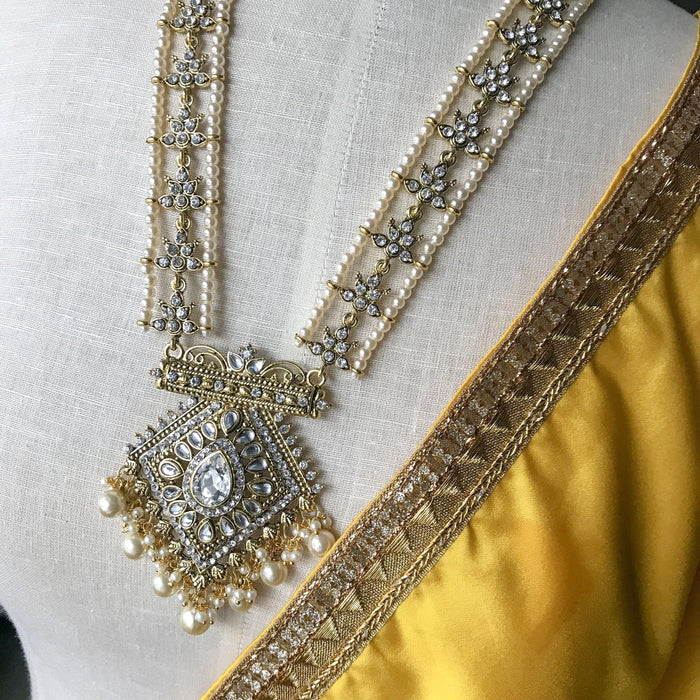 Intricate White Raani Haar, Necklace Sets - THE KUNDAN SHOP