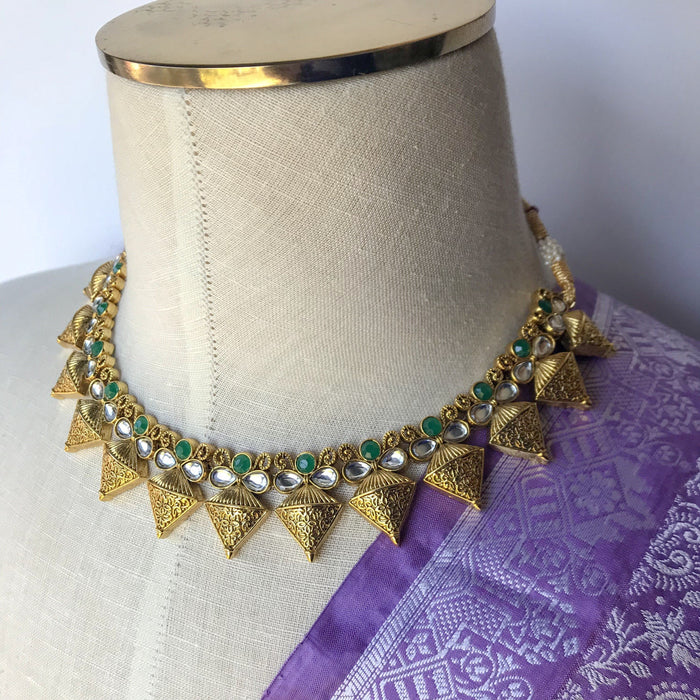 Regal Emerald, Necklace Sets - THE KUNDAN SHOP