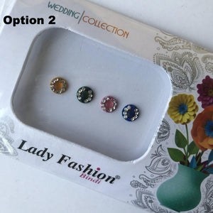 4 PC Bindi Pack, Bindis - THE KUNDAN SHOP