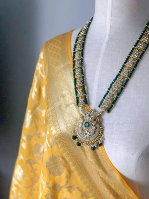Rich Yellow Banarsi Dupatta, Dupatta - THE KUNDAN SHOP