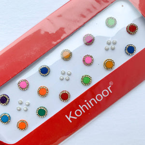 16 PC Gold Rhinestone Bindi Pack, Bindis - THE KUNDAN SHOP