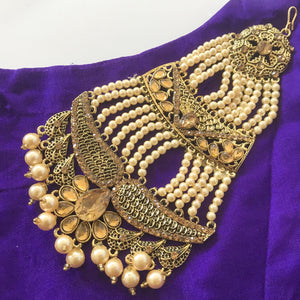 Touch of Flower Champagne Passa, Passa - THE KUNDAN SHOP