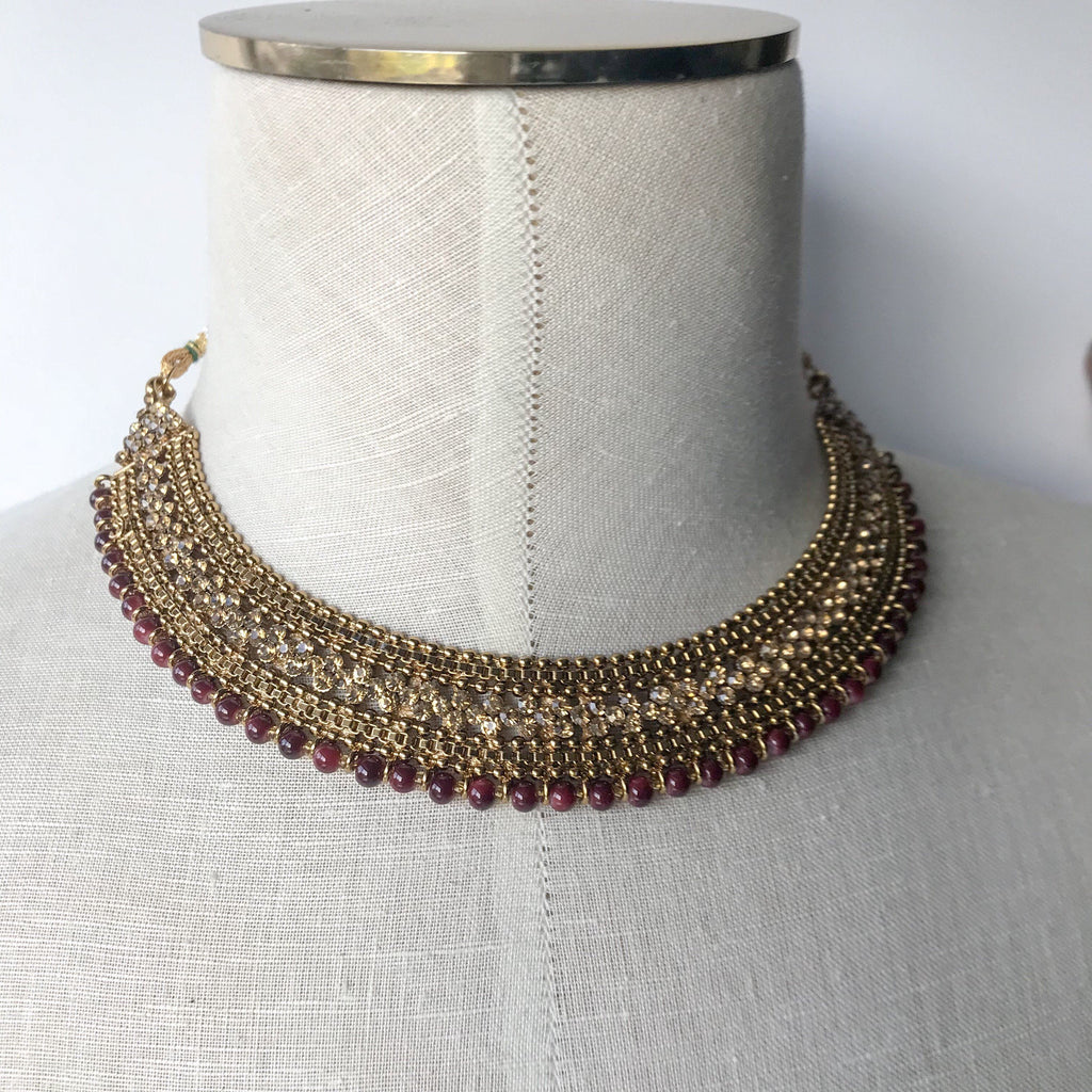 Bring Home the Gold - Ruby Set, Necklace Sets - THE KUNDAN SHOP