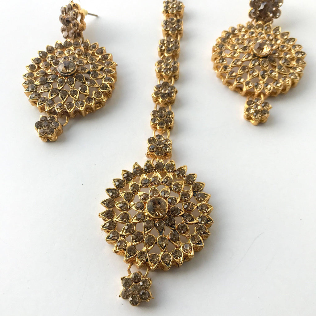 Bronze Raani Haar Set, Necklace Sets - THE KUNDAN SHOP