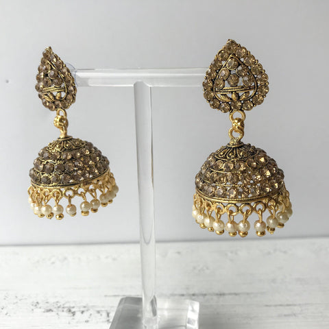 Teardrop Age Jumki, Earrings + Tikka - THE KUNDAN SHOP