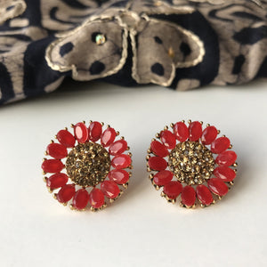 Flower Studs, Studs - THE KUNDAN SHOP