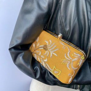 Honey & Mustard, Clutch - THE KUNDAN SHOP