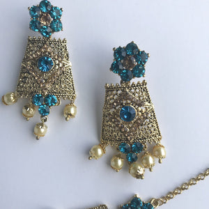 Antique 2.0 - Firoza, Necklace Sets - THE KUNDAN SHOP