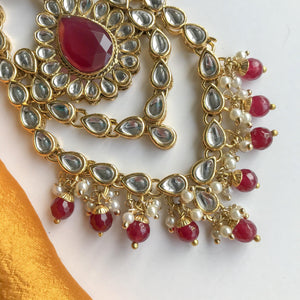 Ruby - Pink Toned Passa, Passa - THE KUNDAN SHOP
