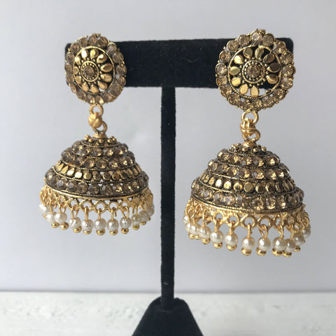 Delicate Age Jumki, Earrings + Tikka - THE KUNDAN SHOP