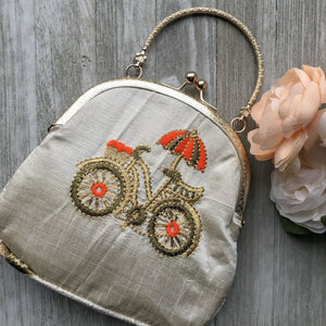Under an Umbrella Potli, Clutch - THE KUNDAN SHOP