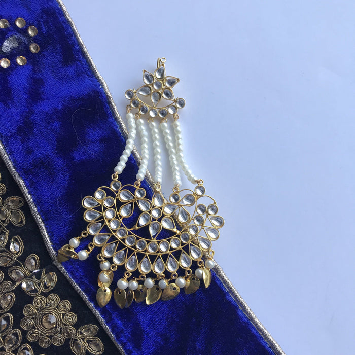 Gold Flakes Kundan Passa, Passa - THE KUNDAN SHOP
