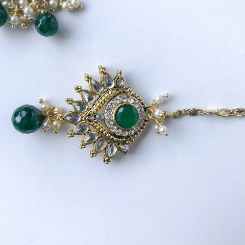 Intricate Green Raani Haar, Necklace Sets - THE KUNDAN SHOP
