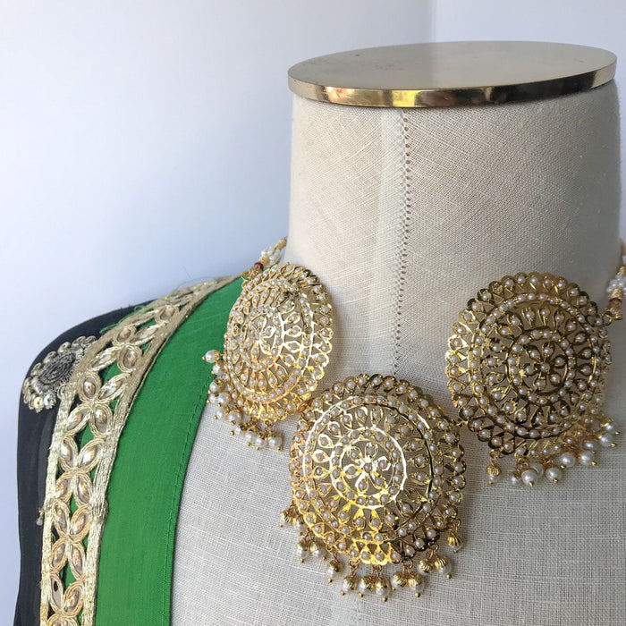 Circles of Jadau, Necklace Sets - THE KUNDAN SHOP