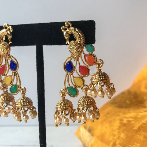 Moorni Colours, Earrings + Tikka - THE KUNDAN SHOP