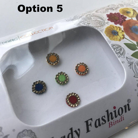 5 PC Bindi Pack, Bindis - THE KUNDAN SHOP