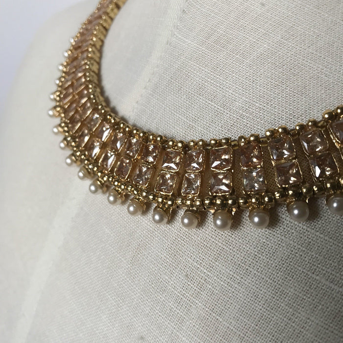 Double Layers Polki, Necklace Sets - THE KUNDAN SHOP