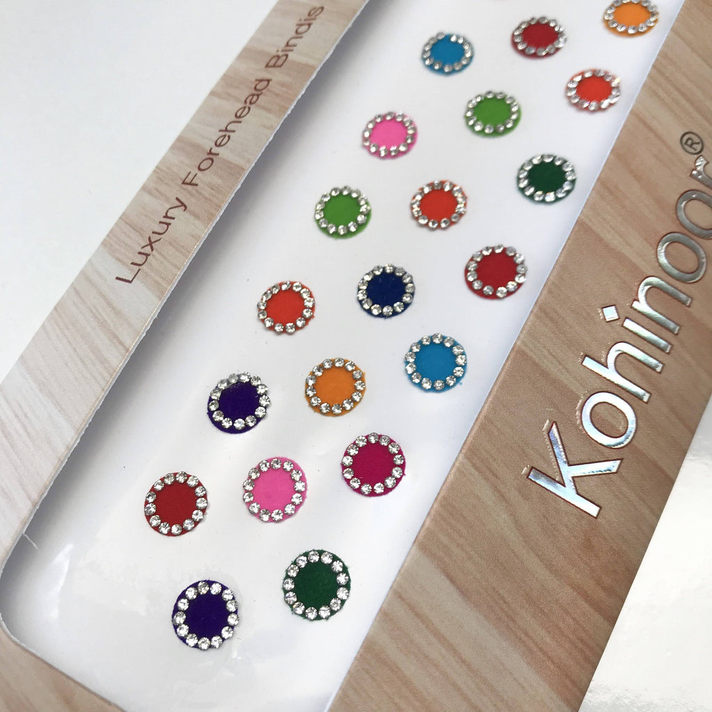 Velvet Rhinestone Bindi, Bindis - THE KUNDAN SHOP