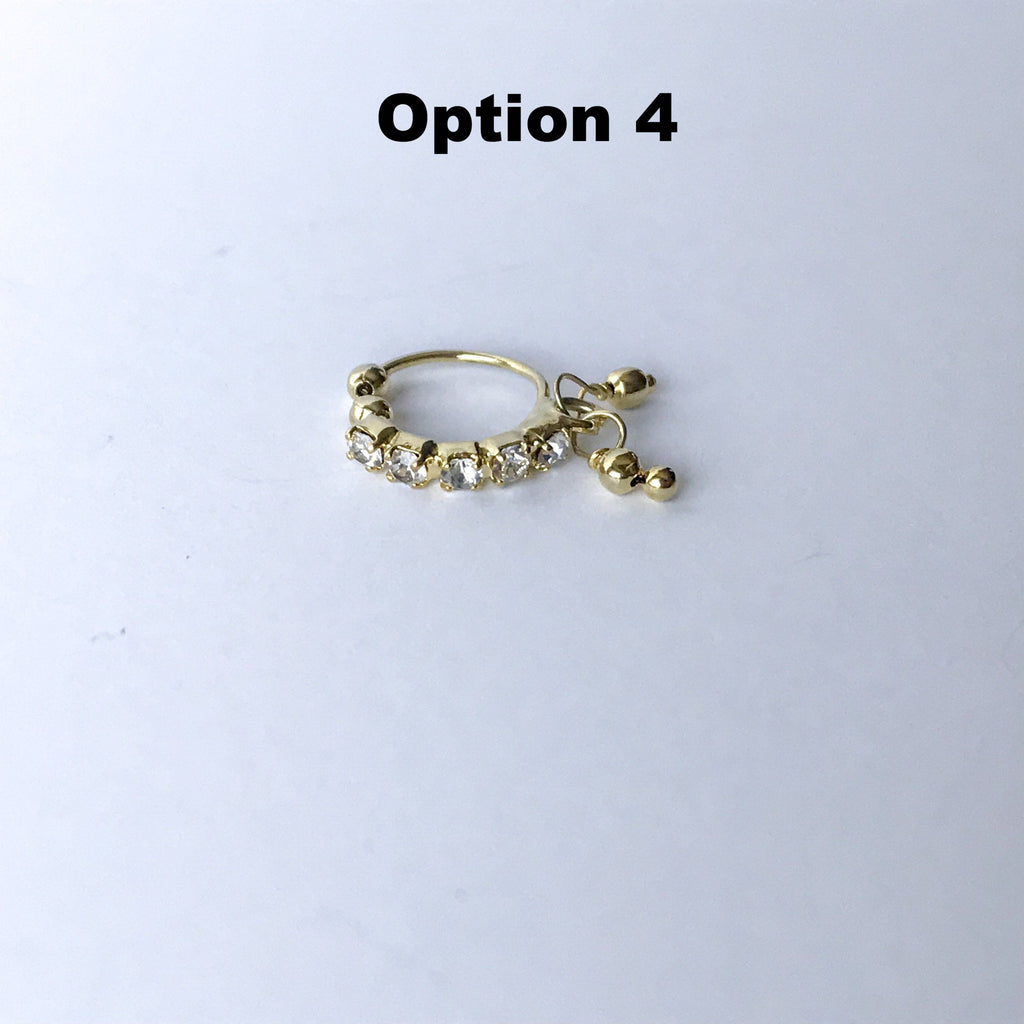 Clip on Nose Rings, Naath - THE KUNDAN SHOP