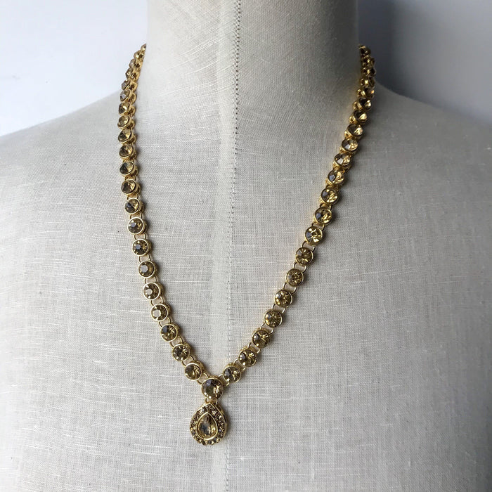 Single Line Bronze Necklace, Necklace Sets - THE KUNDAN SHOP
