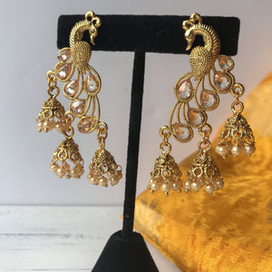 Moorni Gold, Earrings + Tikka - THE KUNDAN SHOP
