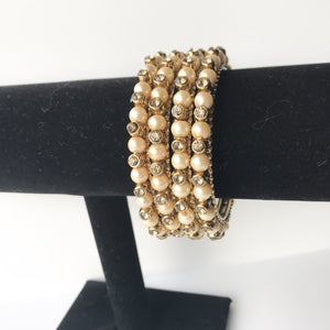 Bronze Pearl Bangle Set, Bangles - THE KUNDAN SHOP