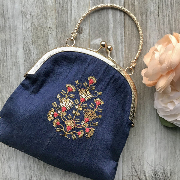 Joining the Navy Potli, Clutch - THE KUNDAN SHOP