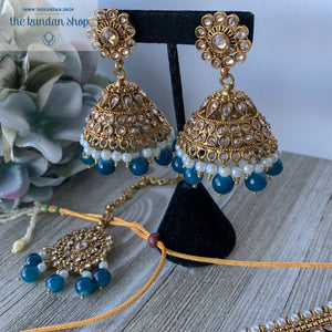 Ocean Blue, Necklace Sets - THE KUNDAN SHOP