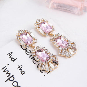 Pink Drops, Earrings - THE KUNDAN SHOP