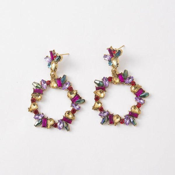 Vintage Gems - Multi, Earrings - THE KUNDAN SHOP