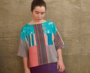 Abstract Springtime / Juniper Tee / one-of-a-kind