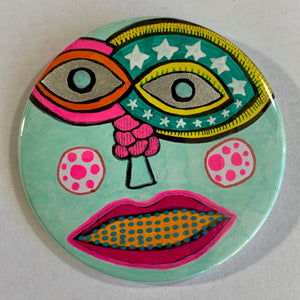 Seeing Stars / ART PIN / one-of-a-kind & hand-painted