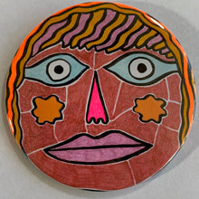 Pink Nose / ART PIN / one-of-a-kind & hand-painted