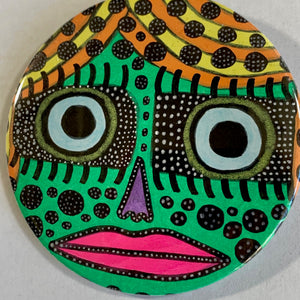 Mesmer-eyes / ART PIN / one-of-a-kind & hand-painted