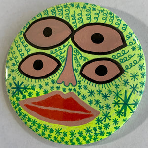 4-Eyes / ART PIN / one-of-a-kind & hand-painted