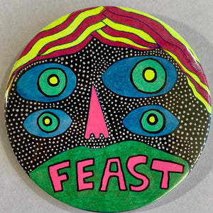 Feast / ART PIN / one-of-a-kind & hand-painted
